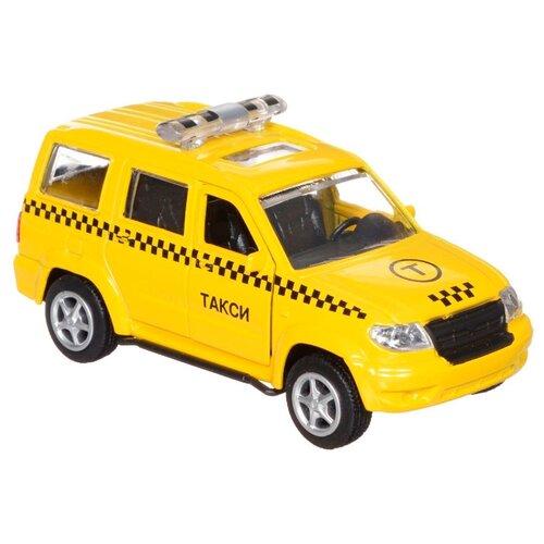 Купить Внедорожник ТЕХНОПАРК УАЗ Патриот Такси (X600-H09027-R) 1:50 8.5 см желтый, Машинки и техника