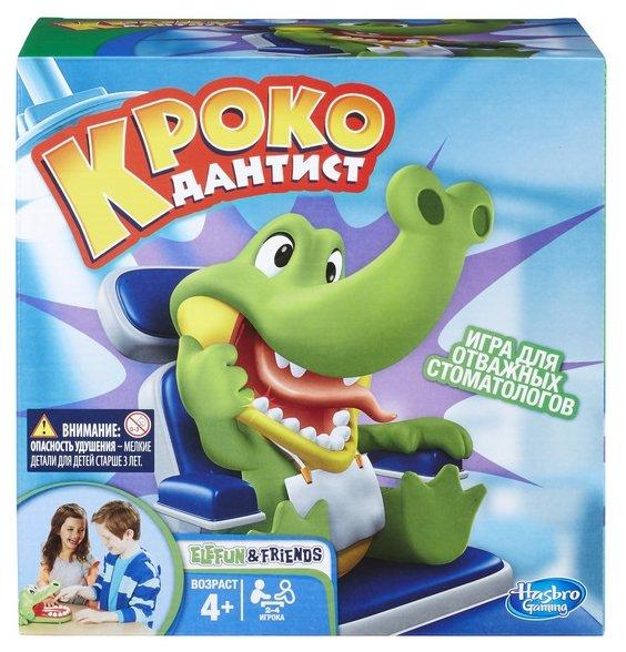 Настольная игра Hasbro games Крокодильчик Дантист B0408