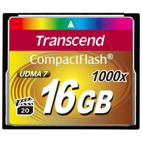 Фото - Карта памяти Transcend TS*CF1000 16 GB, чтение: 160 MB/s, запись: 120 MB/s карта памяти transcend ts sdxc10 128 gb запись 16 mb s