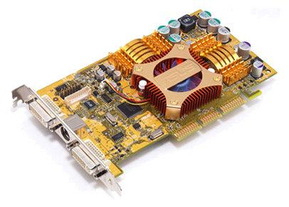 Видеокарта ASUS GeForce FX 5200 250Mhz AGP 128Mb 400Mhz 128 bit 2xDVI VIVO