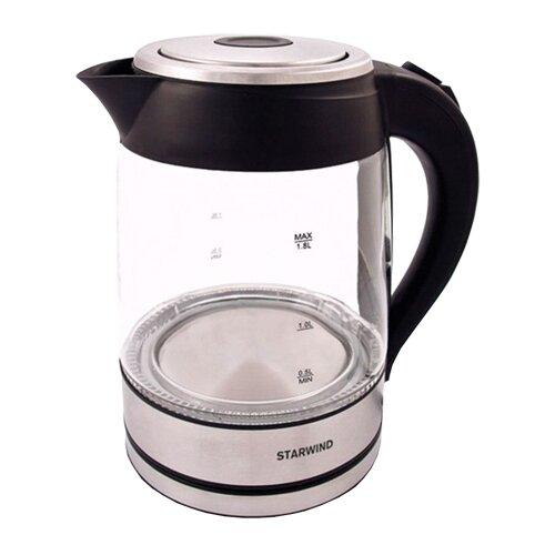 Чайник STARWIND SKG4710, серебристый/черный