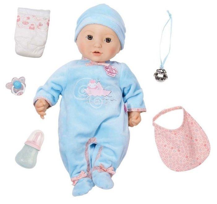 Интерактивная кукла Zapf Creation Baby Annabell Мальчик, 43 см, 794-654