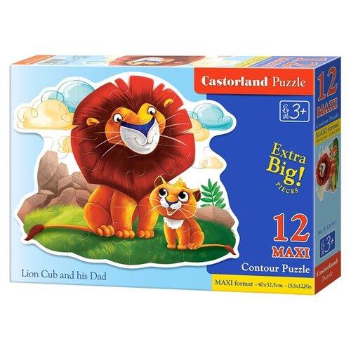 Купить Пазл Castorland Lion Cub and his Dad (B-120161), 12 дет., Пазлы