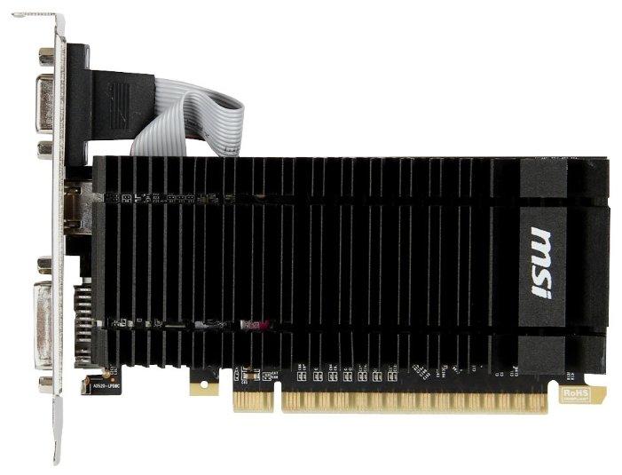 MSI GeForce GT 610 810Mhz PCI-E 2.0 1024Mb 1000Mhz 64 bit DVI HDMI HDCP Silent