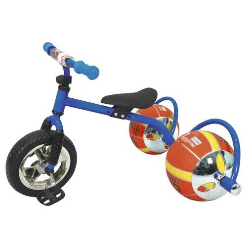 Фото - Трехколесный велосипед BRADEX БАСКЕТБАЙК DE 0105 синий велосипед трехколесный с ручкой smartbaby надувные колеса наклонная спинка синий ts1bl
