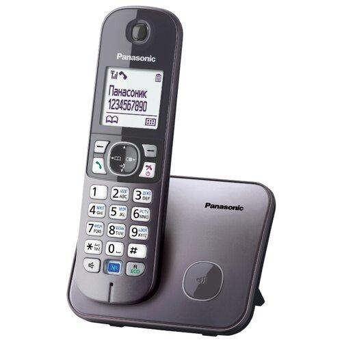 Радиотелефон Panasonic KX-TG6811 серый металлик