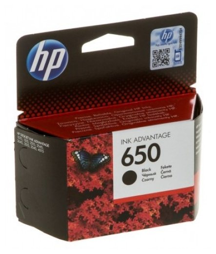Картридж HP 650 Ink Advantage CZ101AE Black для 2515 / 2516 / 3515 / 3516