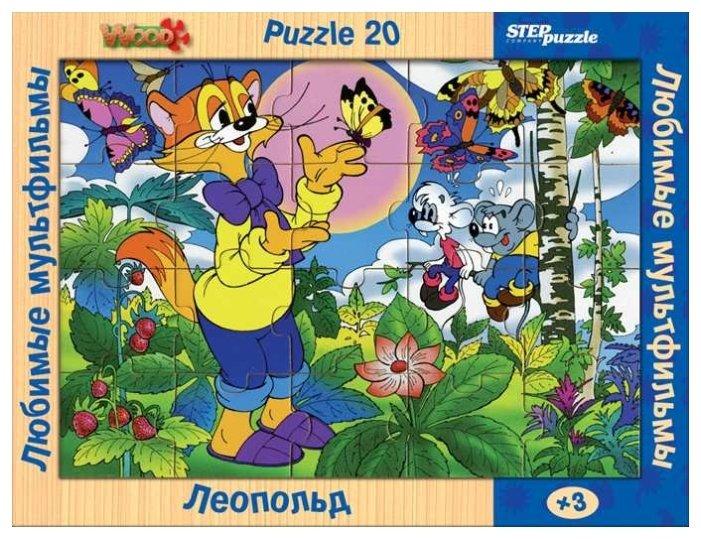 Пазл Step puzzle Любимые мультфильмы Леопольд (89708) , элементов: 20 шт.