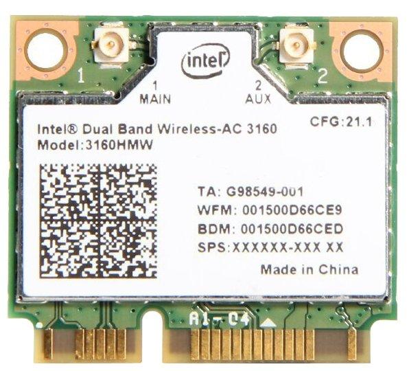 Bluetooth+Wi-Fi адаптер Intel 3160.HMW