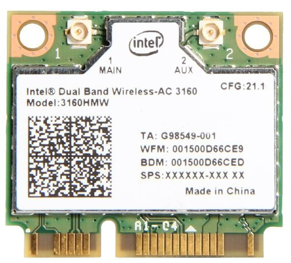 Intel Bluetooth+Wi-Fi адаптер Intel 3160.HMW