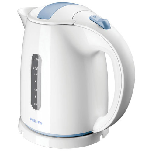 Чайник Philips HD4646/70, белый/голубой электрочайник philips hd4646 20 черный
