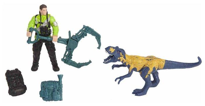 Игровой набор Chap Mei Dino Valley - Мегалозавр и ловец динозавров 520007-1
