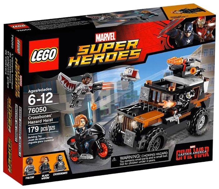Классический конструктор LEGO Marvel Super Heroes 76050 Опасное ограбление Кроссбоунса