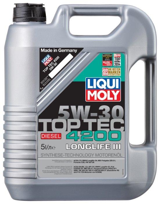 Моторное масло LIQUI MOLY Top Tec 4200 Diesel 5W-30 5 л