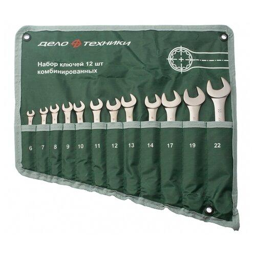 Набор гаечных ключей Дело Техники (12 предм.) 511123 серебристый/зеленый набор отверток дело техники 728040