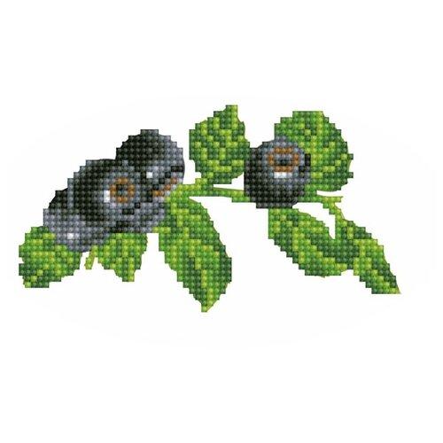 Купить Цветной Вышивка крестом Голубика 14 х 8, 5 см (V23), Наборы для вышивания