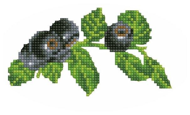 Цветной Вышивка крестом Голубика 14 х 8,5 см (V23)
