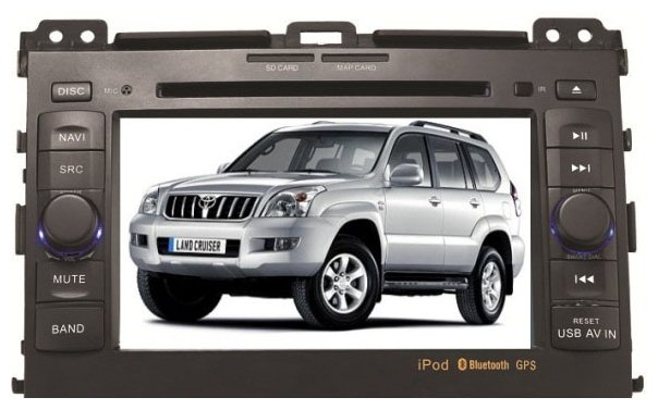 Автомагнитола MOTEVO Toyota Land Cruiser Prado 120