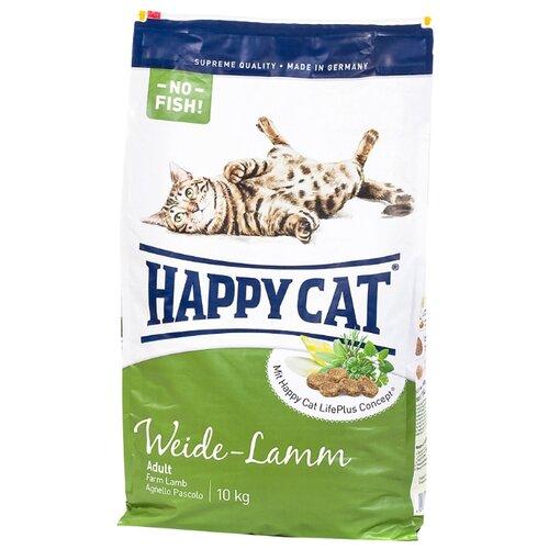 Корм для кошек Happy Cat (10 кг) Supreme Weide-LammКорма для кошек<br>