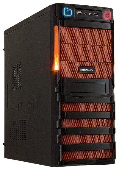 CROWN Компьютерный корпус CROWN CMC-SM162 450W Black/orange