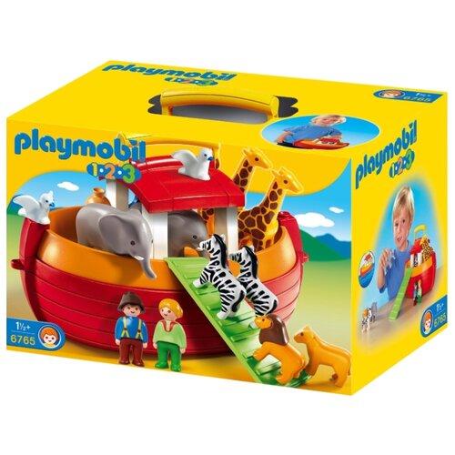 Купить Набор с элементами конструктора Playmobil 1-2-3 6765 Ноев ковчег, Конструкторы