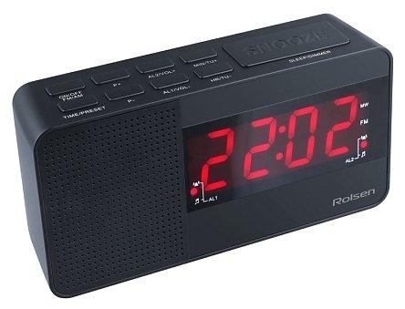Часы с радиоприемником Rolsen CR-210 черный