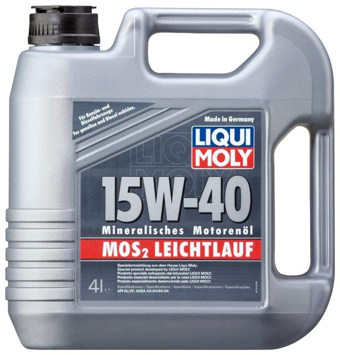 Моторное масло LIQUI MOLY MoS2 Leichtlauf 15W-40 4 л