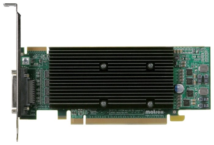 Matrox Видеокарта Matrox M9140 PCI-E 512Mb 64 bit Low Profile