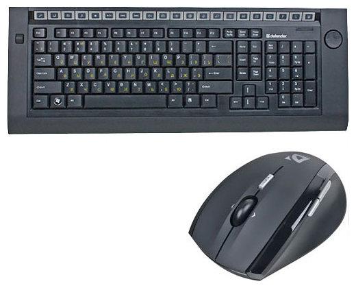 Клавиатура и мышь Defender S Davos 775 Black USB