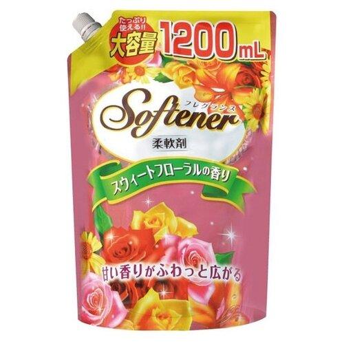 Кондиционер-ополаскиватель для белья с цветочным ароматом Nihon Detergent 1.2 л пакетКондиционеры и ополаскиватели<br>