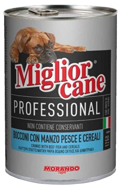 Корм для собак Miglior Cane Professional Line Meat and Fish