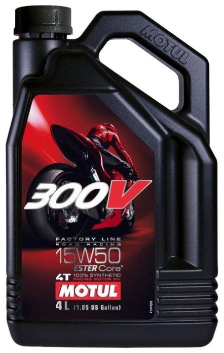 Моторное масло Motul 300V Factory Line Road Racing 15W50 4 л