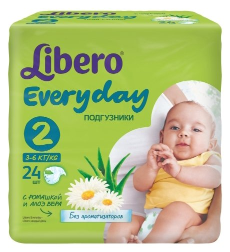 Libero подгузники Everyday 2 (3-6 кг) 24 шт.