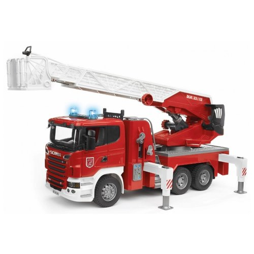 Купить Пожарный автомобиль Bruder Scania (03-590) 1:16 59 см красный/белый, Машинки и техника