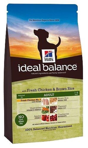 Корм для собак Hill's Ideal Balance для здоровья кожи и шерсти, курица с коричневым рисом 700г