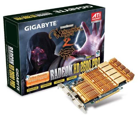 GIGABYTE Radeon HD 2600 Pro 600Mhz PCI-E 512Mb 1600Mhz 128 bit 2xDVI TV HDCP YPrPb