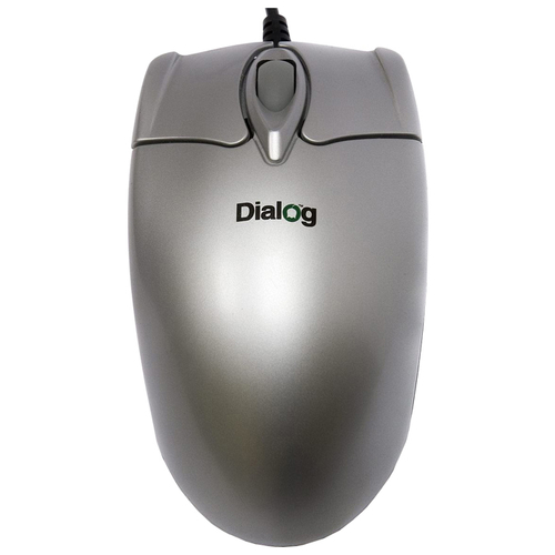 Мышь Dialog MOP-02SP Silver PS/2