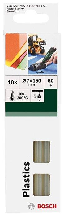 BOSCH Клеевые стержни для пластика 7х150 мм, 10 шт