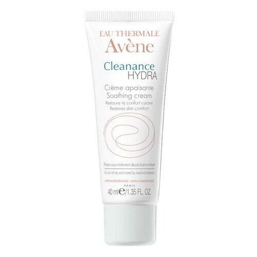 AVENE Cleanance HYDRA Успокаивающий крем для пересушенной проблемной кожи, 40 мл крем для кожи вокруг глаз avene 10 мл успокаивающий