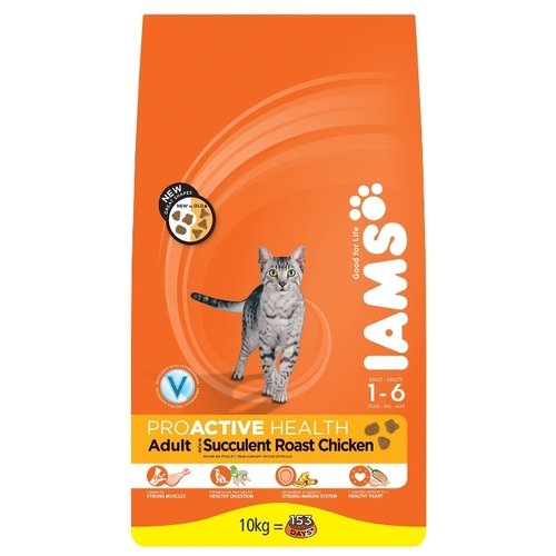 Корм для кошек Iams ProActive Health Adult Succulent Roast Chicken (10 кг)