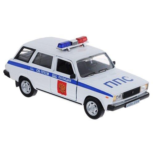 Легковой автомобиль Autogrand Lada 2104 полиция (32675) 1:36 14 см белый/синий автомобиль welly lada priora полиция 1 34 39 белый
