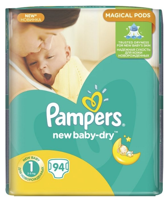 Pampers New Baby Dry 1 (2-5 кг)