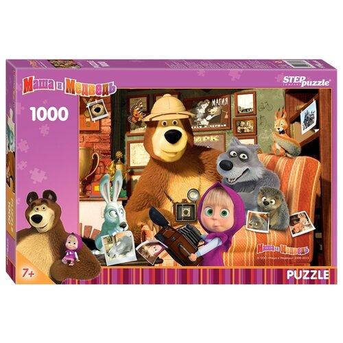 Купить Пазл Step puzzle Анимаккорд Маша и Медведь (79605), элементов: 1000 шт., Пазлы