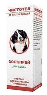 ЧИСТОТЕЛ Спрей от блох и клещей для собак 100 мл