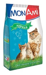 MonAmi Сухой корм для кошек Курица (0.4 кг) 1 шт.