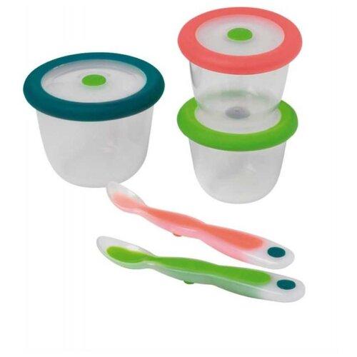 Набор контейнеров Bebe confort 7 предметов красный/синий/зеленый