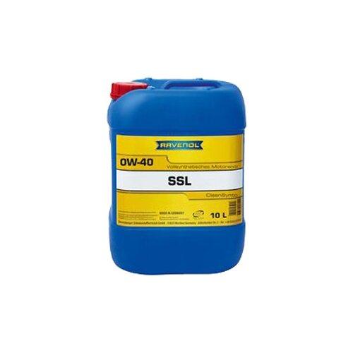 Синтетическое моторное масло Ravenol Super Synthetik Öl SSL SAE 0W-40, 10 л моторное масло ravenol super synthetic hydrocrack ssh sae 0w 30 4 л