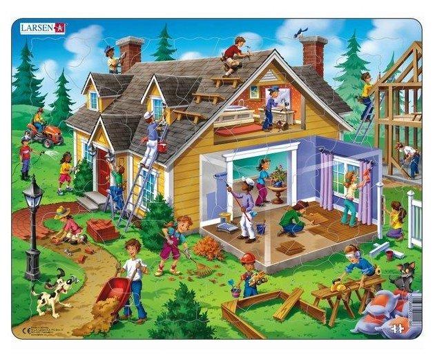Рамка-вкладыш Larsen Дом (US18), 62 дет.