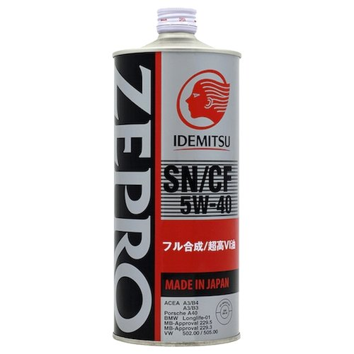 Моторное масло IDEMITSU Zepro Euro Spec 5W-40 1 л моторное масло idemitsu zepro eco medalist 0w 20 1 л