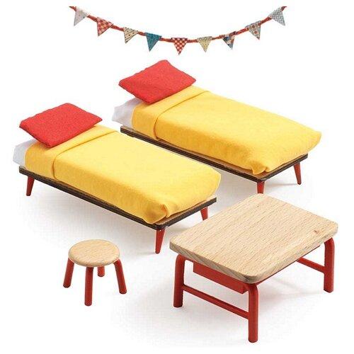 DJECO Спальня для детей (07826) красный/бежевый/желтый